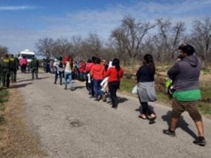 Group of 90 Migrants Cross Border into Texas