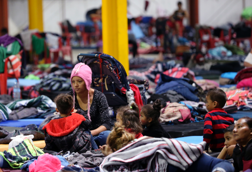 Migrant caravan still held up in Mexican border shelter