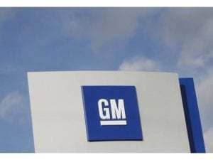 The GM logo is seen at the General Motors Warren Transmission Operations Plant in Warren, Michigan. Photo: Reuters
