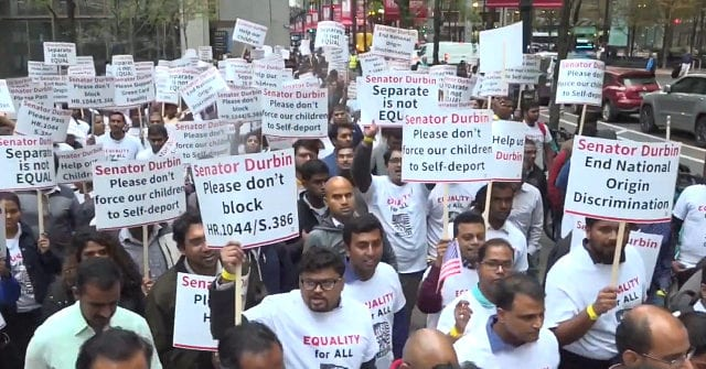 Indian H-1B Visa Workers Protest Senator, Demand More Green Cards